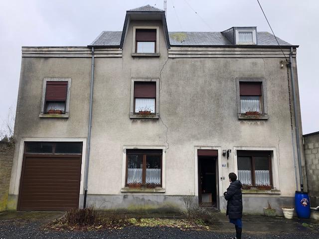 Avant la rénovation de façade à Steinfort